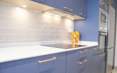 Cocina moderna y azul