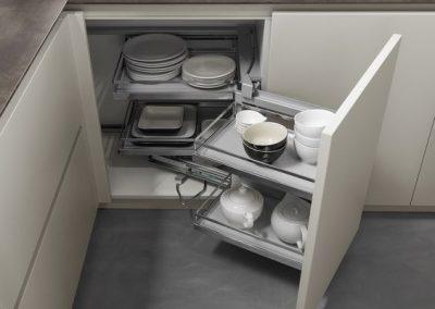Línea 3 Cocinas Rinconeras Extraibles Gavetas