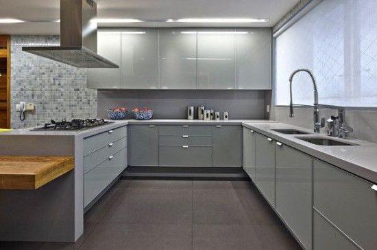 El color gris es tendencia en la decoración de cocinas
