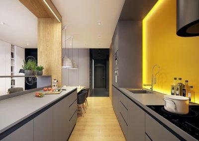 Línea 3 Cocinas Color Gris