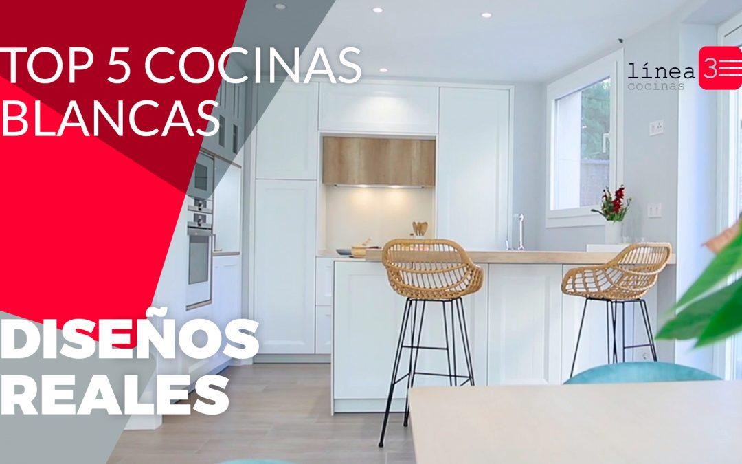Cocinas blancas modernas ¡El top 5!
